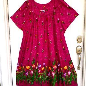 Colorful Muu Muu style dress VTG
